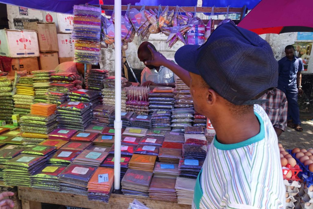 Darajani Market Spice Vendor