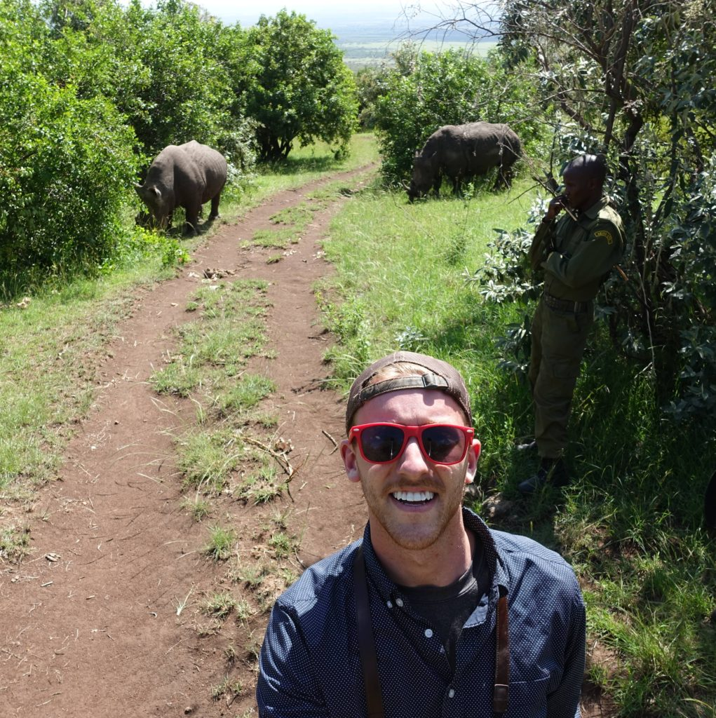 African Rhinos Queen Elizabeth and Kofi Ann