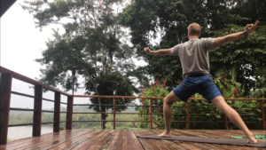Yoga in the Ecuadorian Amazon rainforest