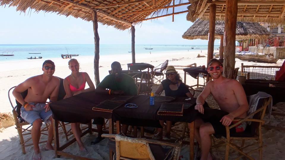 Beach Restaurant in Zanzibar