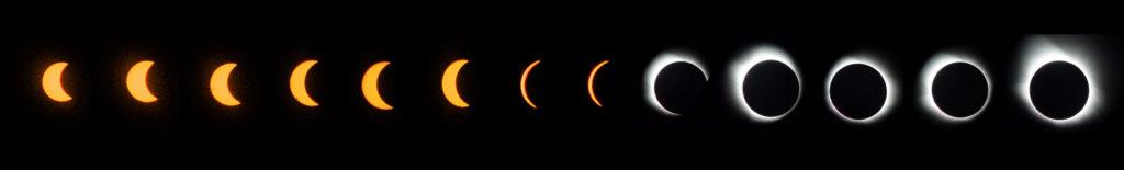 August 2017 Total Eclipse Progression