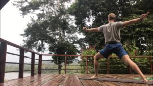 Yoga in the Ecuadorian Amazon rainforest